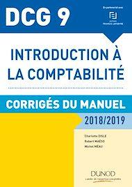 Téléchargez le livre :  DCG 9 Introduction à la comptabilité 2018/2019 - Corrigés du manuel