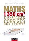 Télécharger le livre :  Maths - 1350 cm3 d'exercices corrigés pour la Licence 1