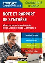 Téléchargez le livre :  Note et rapport de synthèse