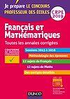 Télécharger le livre :  Français et mathématiques - Toutes les annales corrigées - CRPE 2019