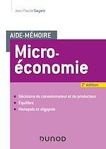 Téléchargez le livre :  Aide-mémoire - Microéconomie - 2e éd.