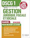 Télécharger le livre :  DSCG 1 Gestion juridique, fiscale et sociale - Manuel - Réforme 2019-2020