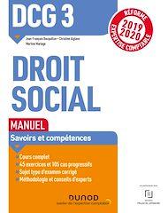Téléchargez le livre :  DCG 3 Droit social - Manuel