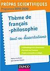 Télécharger le livre :  Prépas scientifiques - Thème de français-philosophie 2019-2020