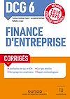 DCG 6 Finance d'entreprise - Corrigés