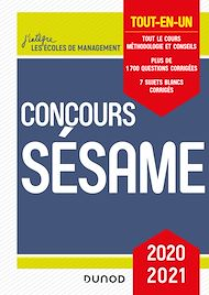 Téléchargez le livre :  Concours Sésame - 2020-2021