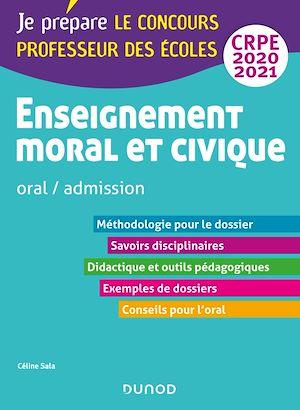 Téléchargez le livre :  Enseignement moral et civique - Oral, admission - CRPE 2020-2021