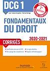 Télécharger le livre :  DCG 1 Fondamentaux du droit - Corrigés - 2020/2021
