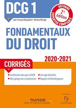 Téléchargez le livre :  DCG 1 Fondamentaux du droit - Corrigés - 2020/2021