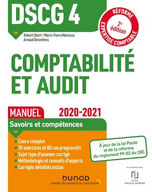 Téléchargez le livre :  DSCG 4 Comptabilité et audit - Manuel - 2020-2021
