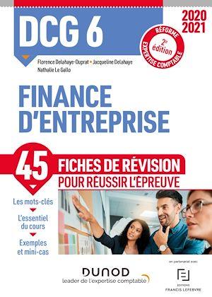 Téléchargez le livre :  DCG 6 Finance d'entreprise - Fiches de révision - 2020/2021