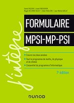 Téléchargez le livre :  Formulaire MPSI-MP-PSI - 7e éd.