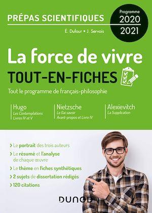 Téléchargez le livre :  La force de vivre - Prépas scientifiques Programme 2020-2021