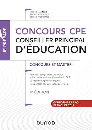 Téléchargez le livre :  Concours CPE - Conseiller principal d'éducation - 4e éd