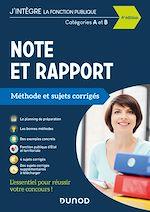 Téléchargez le livre :  Note et Rapport - Méthode et Sujets corrigés