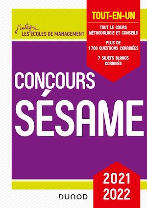 Téléchargez le livre :  Concours Sésame 2021-2022