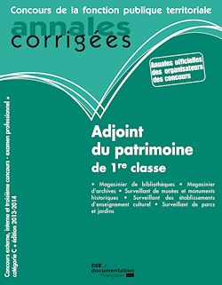 Download the eBook: Adjoint du patrimoine de 1re classe 2013-2014