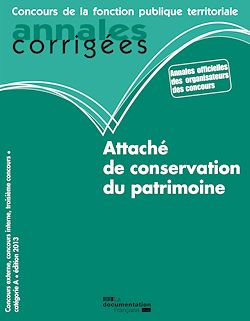 Download the eBook: Attaché de conservation du patrimoine 2013