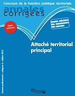 Download this eBook Attaché territorial principal 2013