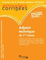 Download this eBook Adjoint technique de 1re classe 2014
