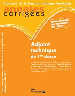 Download the eBook: Adjoint technique de 1re classe 2014
