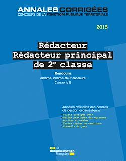 Download the eBook: Rédacteur - Rédacteur principal 2e classe 2015. Concours