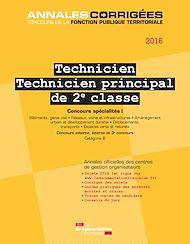 Téléchargez le livre :  Technicien. Technicien principal de 2e classe 2016. Concours spécialités I