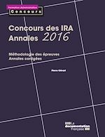 Download this eBook Concours des IRA - Annales 2016