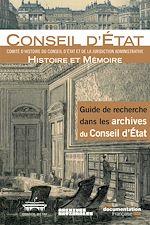 Download this eBook Guide de recherche dans les archives du Conseil d'Etat