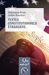 Télécharger le livre :  Textes constitutionnels étrangers
