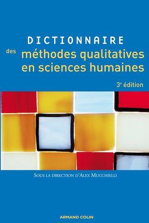 Image de couverture (Dictionnaire des méthodes qualitatives en sciences humaines et sociales)