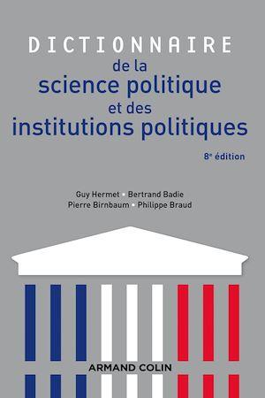 Image de couverture (Dictionnaire de la science politique et des institutions politiques)