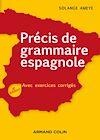 Télécharger le livre :  Précis de grammaire espagnole - 4e éd.