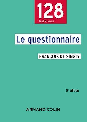 Téléchargez le livre :  Le questionnaire - 5e éd.