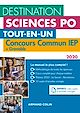 Télécharger le livre : Destination Sciences Po - Concours commun IEP 2020 + Bordeaux + Grenoble