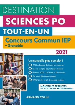 Téléchargez le livre :  Destination Sciences Po - Concours commun 2021 IEP + Grenoble