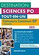 Télécharger le livre : Destination Sciences Po - Concours commun 2021 IEP + Grenoble