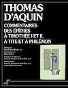 Télécharger le livre :  Commentaires des épîtres à Timothée I et II, à Tite et à Philémon