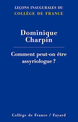 Cover image (Comment peut-on être assyriologue ?)