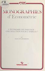 Téléchargez le livre :  L'économie de partage : une solution pour l'emploi ?