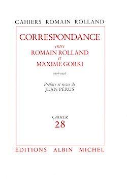 Correspondance entre Romain Rolland et Maxime Gorki (1916-1936), cahier n° 28