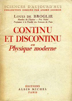 Continu et discontinu en physique moderne