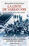 Télécharger le livre :  La Liste de Varian Fry (Août 1940 septembre 1941)