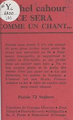 Download this eBook Ce sera comme un chant...