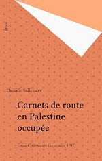 Download this eBook Carnets de route en Palestine occupée