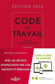 Téléchargez le livre :  Code du travail 2016