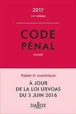 Téléchargez le livre :  Code pénal 2017, annoté