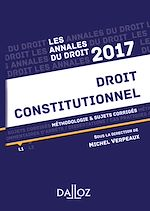 Download this eBook Annales Droit constitutionnel 2017