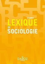 Téléchargez le livre :  Lexique de sociologie
