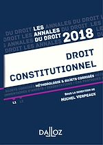 Download this eBook Droit constitutionnel 2018. Méthodologie & sujets corrigés